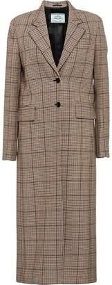 Prada houndstooth check coat