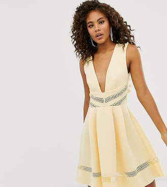 Asos Tall DESIGN Tall lace insert mini skater dress