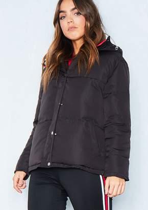 Missy Empire Missyempire Ruby Black Puffer Jacket