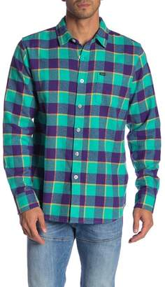 Obey Ventura Plaid Print Flannel Shirt