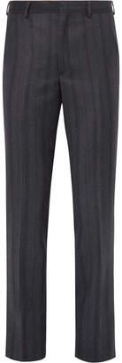 Noah Slim-Fit Striped Wool-Twill Trousers