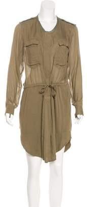Etoile Isabel Marant Silk-Paneled High-Low Dress