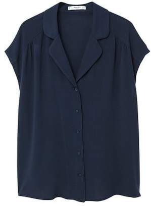 MANGO Camp-collar blouse