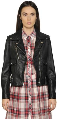 Smooth Leather Biker Jacket $592 thestylecure.com