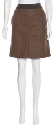 Dries Van Noten Alpaca & Wool Skirt