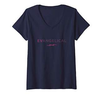 Womens Evangelical | EV-ANGELICAL V-Neck T-Shirt