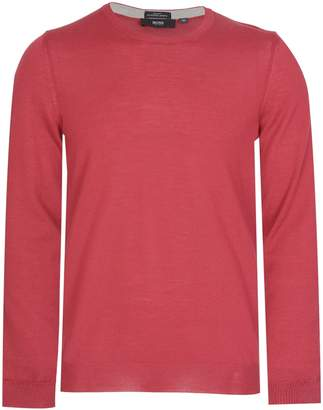 HUGO BOSS Leno-M Slim Fit Knitted Jumper Red