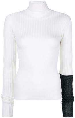 Circus Hotel contrast sleeve detail jumper
