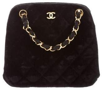 Pre Owned At Therealreal Chanel Velvet Evening Bag
