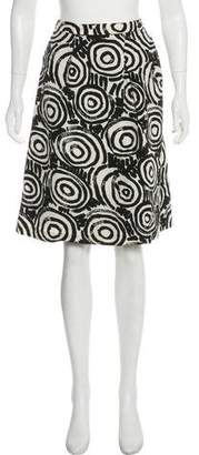 Clements Ribeiro Abstract Print Knee-Length Skirt