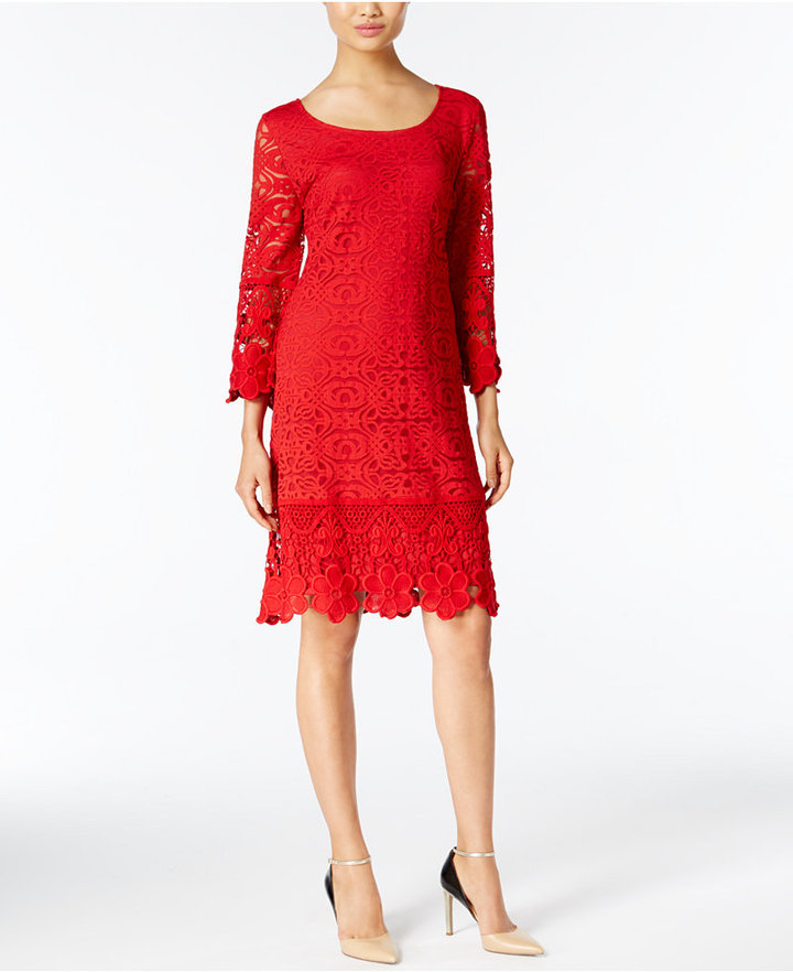 Alfani Crochet-Trim Illusion Dress, Only at Macy's 11
