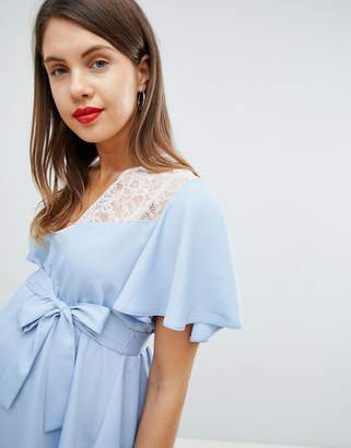 Asos DESIGN Maternity Exclusive Lace Insert Top