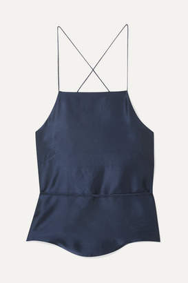 HARMUR - Tie-back Silk-satin Camisole - Navy