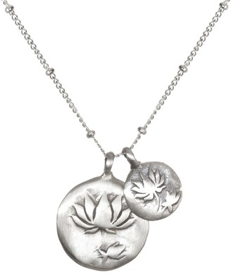 "Satya Double Lotus 18"" Necklace"