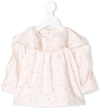Chloé Kids floral print blouse