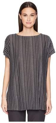 Eileen Fisher Organic Linen Striped Top Women's Clothing