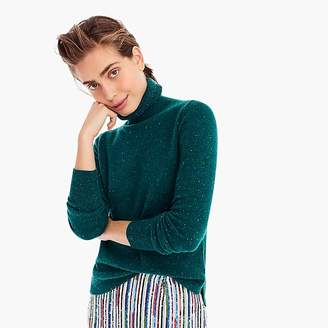 J.Crew Cropped turtleneck sweater in Donegal cashmere