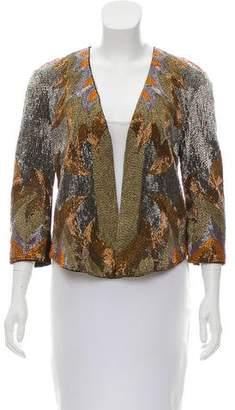 Haute Hippie Embellished Open Front Jacket