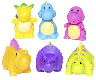 Elegant Baby Bath Time Fun Rubber Water Squirties, Dinosaur Party by