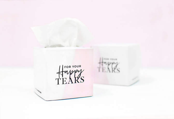 Etsy For your Happy Tears Tissues - MINI Tissue Box with tissues - Wedding Favors - Mother of the Bride G