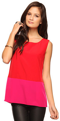 Forever 21 Colorblock Woven Tank