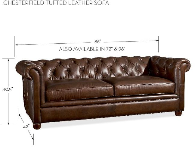 Pottery Barn Chesterfield Leather Sofa