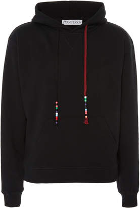 J.W.Anderson Bead-Embellished Cotton-Jersey Hooded Sweatshirt