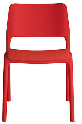 Design Within Reach Knoll Spark Side Chair with Seat Pad, Red at DWR