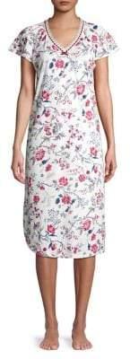 Karen Neuburger Floral Short Sleeve Night Gown