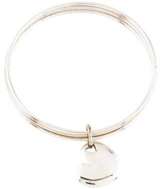 Tiffany & Co. Triple Bangle with Heart Charm