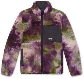 Stussy Reversible Tie-Dyed Fleece and Nylon Jacket - Men - Purple