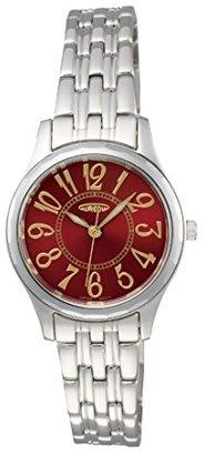 Aureole [オレオール 超硬ベゼル レディース腕時計 文字盤カラー:レッド SW-491L-4