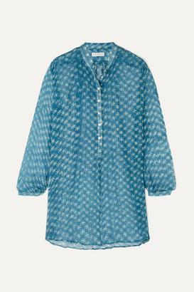 Cloe Cassandro - Andrea Printed Silk-crepon Tunic - Blue