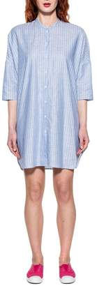 Bagutta Light Blue/white Striped Linen Dress