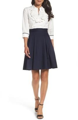 Women's Eliza J Applique Shirtdress $158 thestylecure.com