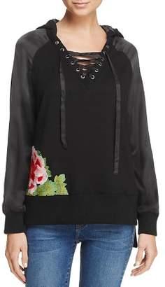 True Religion Lace-Up Sweatshirt