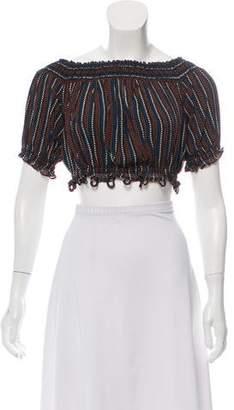3d8e158fff3124 Black Silk Crop Top - ShopStyle