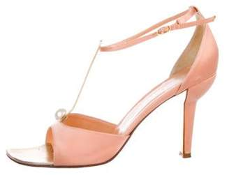 Chanel Satin Peep-Toe Sandals Satin Peep-Toe Sandals