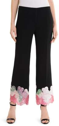 Emilio Pucci Embroidered Hem Pants