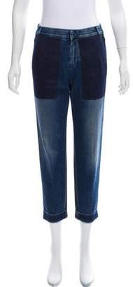 Stella McCartney Two-Tone Mid-Rise Jeans
