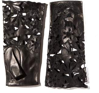 Portolano Embroidered Leather Fingerless Gloves - 100% Exclusive