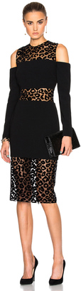 Mugler Leopard Velour & Fitted Cady Dress $2,800 thestylecure.com