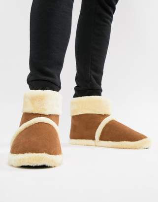 Dunlop Sheepskin Boot Slipper
