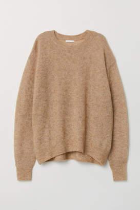 H&M Mohair-blend Sweater - Beige