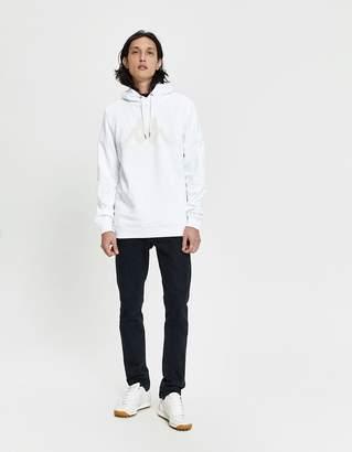 Kappa Kontroll Set-In Sleeve Pullover Hoodie in White/Grey