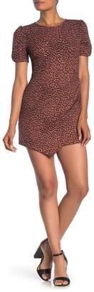 Lush Leopard Printed Ruched Mini Dress