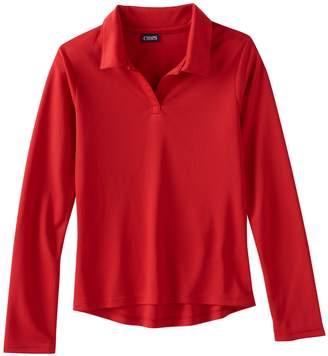 Chaps Girls 4-16 & Plus Size Long Sleeve Performance Polo Shirt