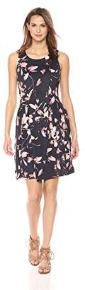 Nine West Women's Slvless Multi Seam Fit and Flare Dress