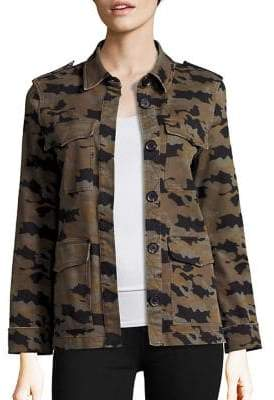 L'Agence Cromwell Military Camouflage Jacket