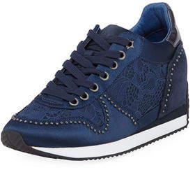 Ash Blush Satin/Lace Sneakers